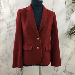 Sutton Studio Cashmere Red Blazer Jacket LP20☮️